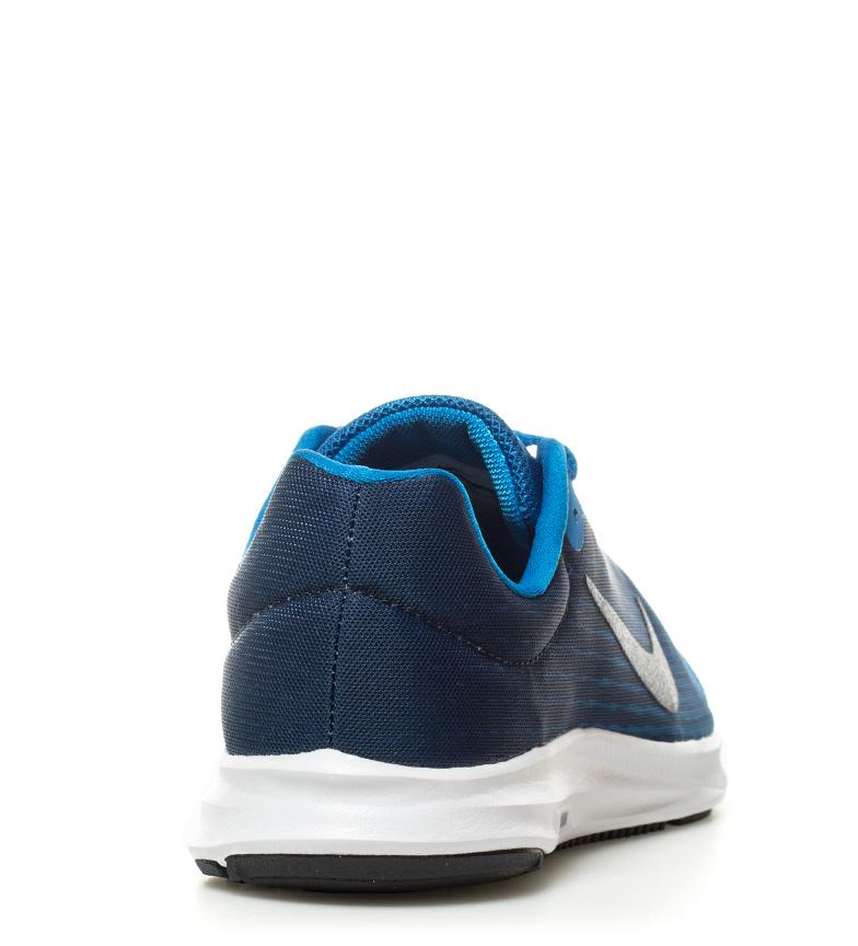 Nike - Nero Scarpe da corsa Downshifter 8 Nero - Grigio Arancione Blu Tessuto Basso 1b7837