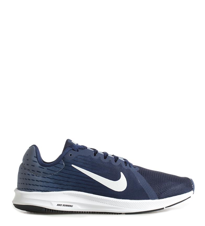 Sur Sport Chaussures De Tissu Plat Lacets Nike Course Homme Bleu Downshifter Détails 8 JTlFK1c