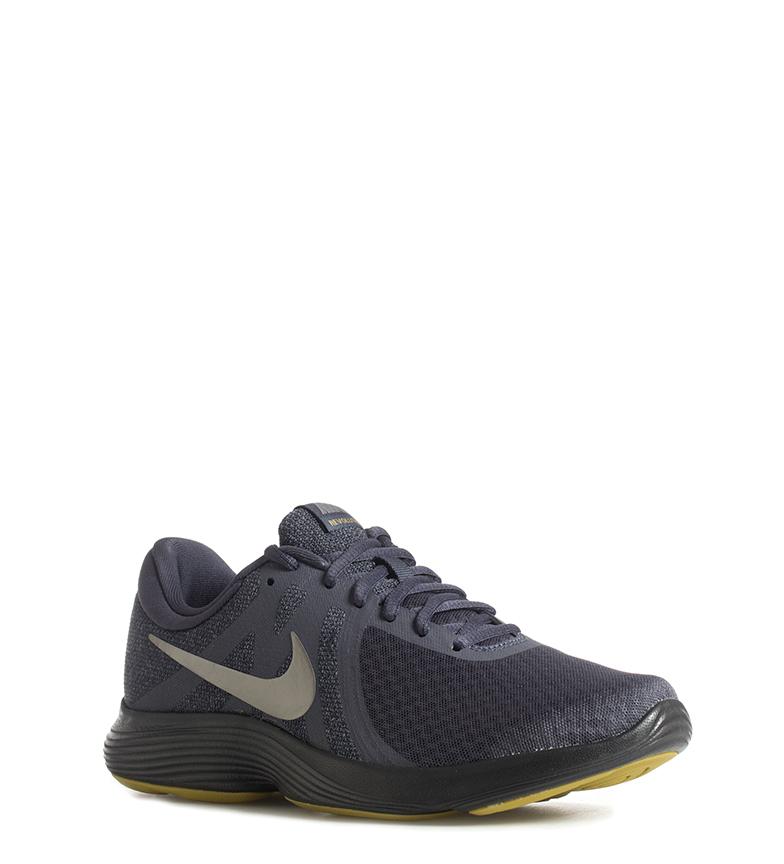 Nike-Zapatillas-running-Revolution-4-Hombre-chico-Blanco-Negro-Azul-Gris-Rojo miniatura 12