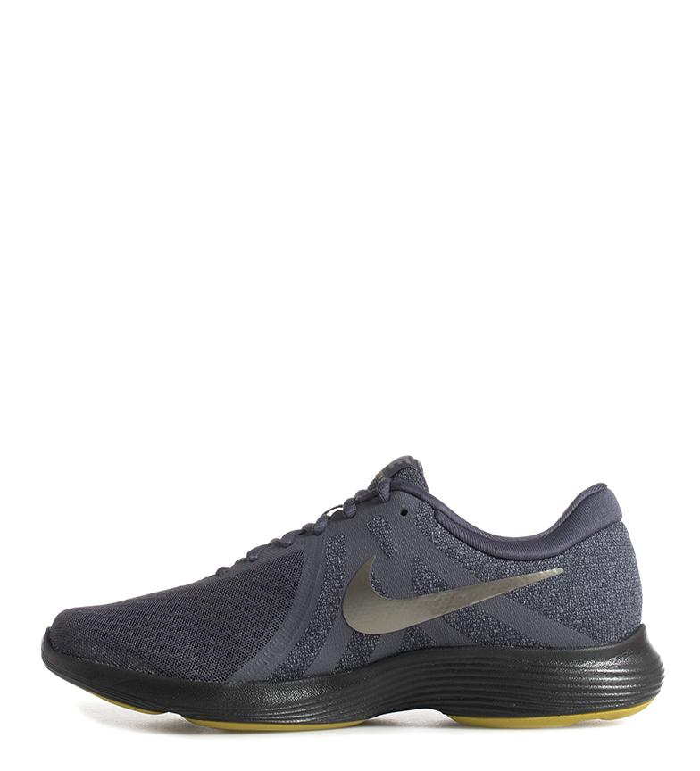 Nike-Sneakers-running-Revolution-4-Homme-Blanc-Noir-Bleu-Gris-Rouge-Tissu miniature 15