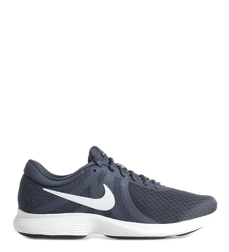 Nike-Zapatillas-running-Revolution-4-Hombre-chico-Blanco-Negro-Azul-Gris-Rojo miniatura 3