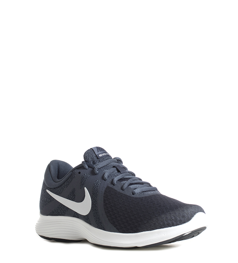 Nike-Zapatillas-running-Revolution-4-Hombre-chico-Blanco-Negro-Azul-Gris-Rojo miniatura 4