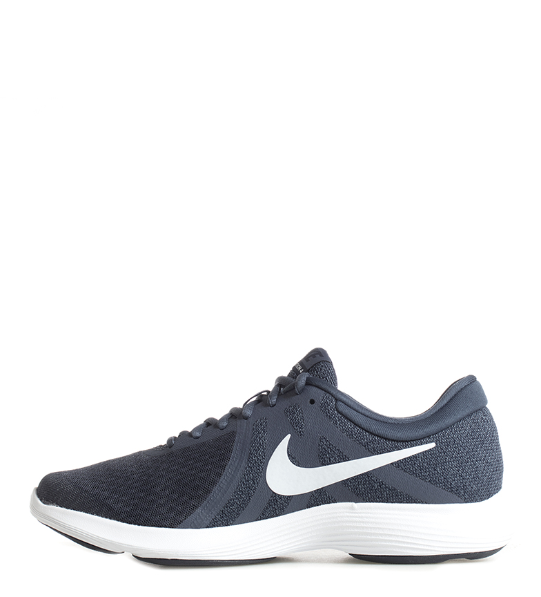 Nike-Sneakers-running-Revolution-4-Homme-Blanc-Noir-Bleu-Gris-Rouge-Tissu miniature 7