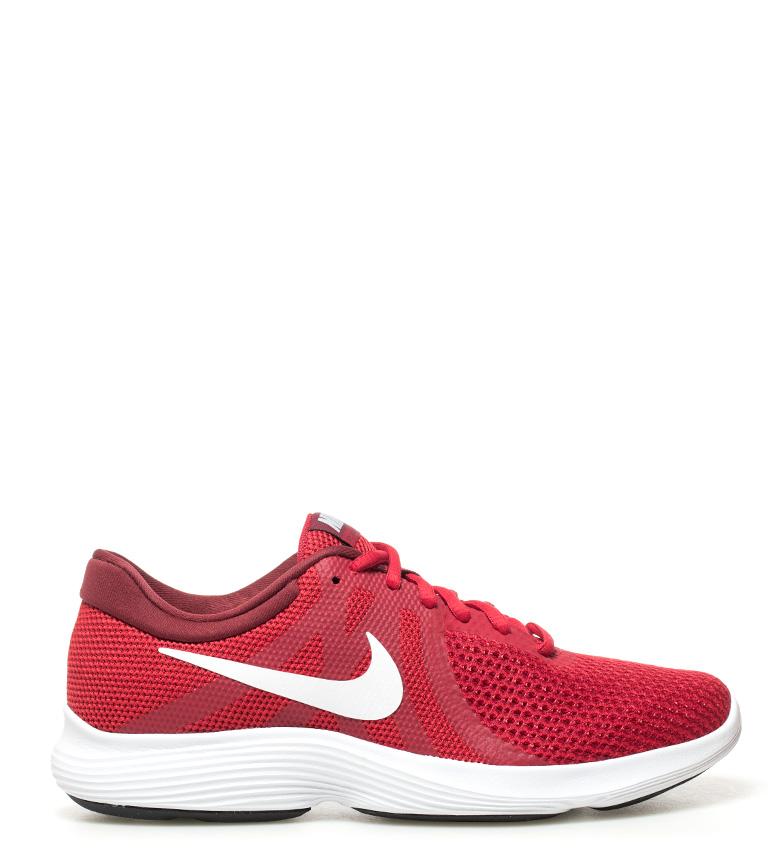 Nike-Zapatillas-running-Revolution-4-Hombre-chico-Rojo-Negro-Gris-Tela