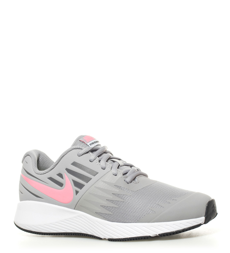 Nike Zapatillas running Star Runner GS gris, rosa