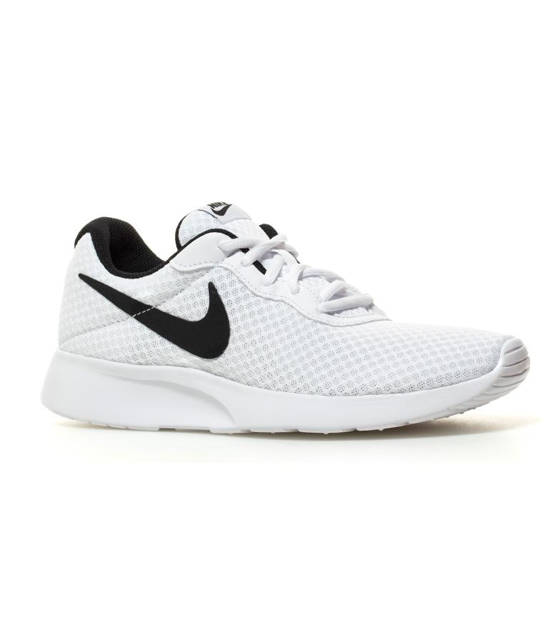 Nike-Chaussures-Tanjun-Homme-Bleu-Noir-Blanc-Tissu-Lacets-Sportswear-Plat miniature 19