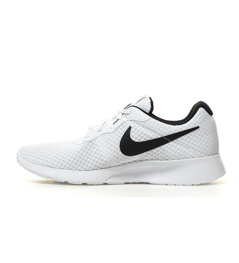 Nike-Chaussures-Tanjun-Homme-Bleu-Noir-Blanc-Tissu-Lacets-Sportswear-Plat miniature 22