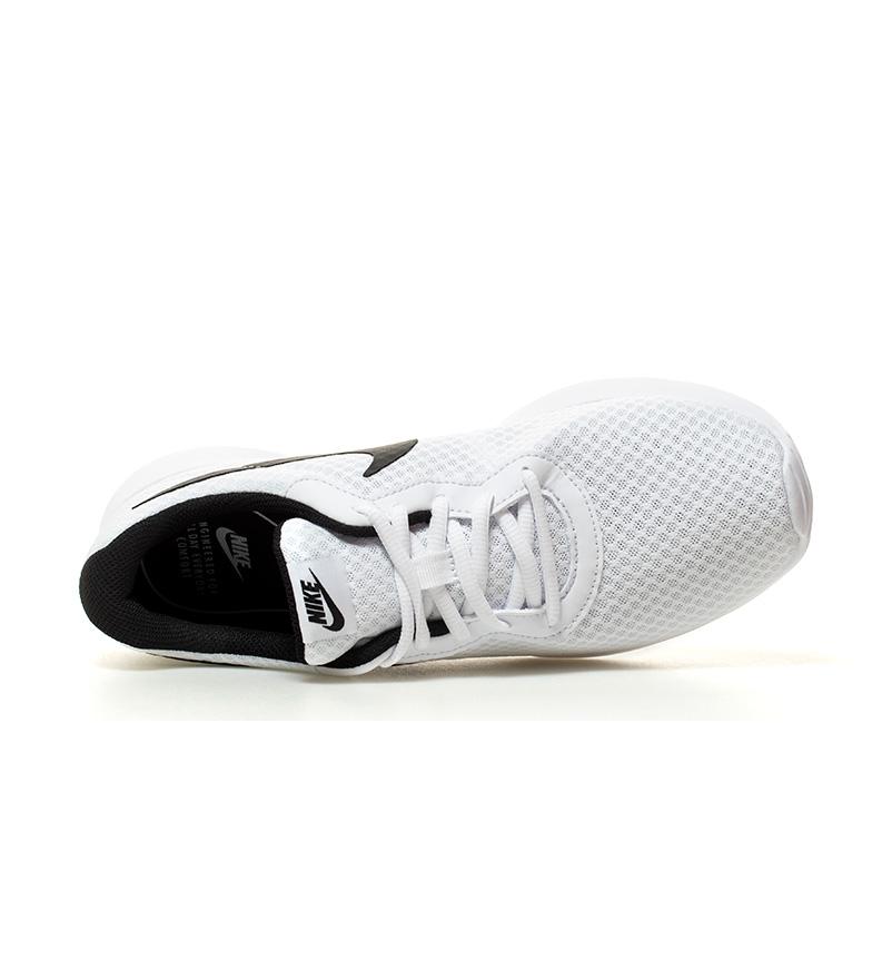 Nike-Chaussures-Tanjun-Homme-Bleu-Noir-Blanc-Tissu-Lacets-Sportswear-Plat miniature 23