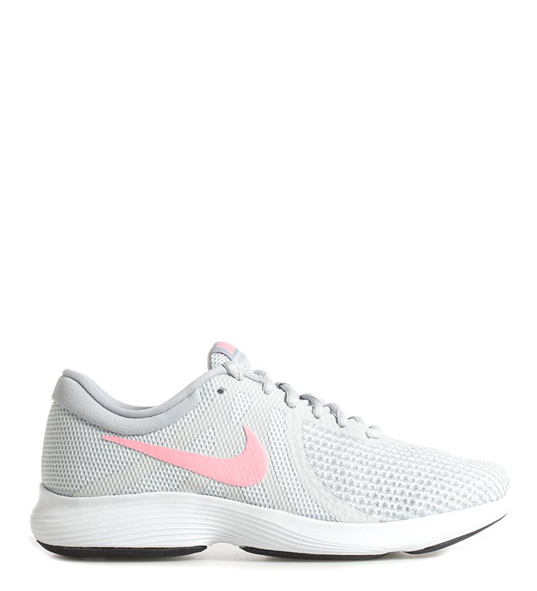 4dfbb1a90db6 ... course Revolution 4 gris Femme Tissu Synthétique Plat Lacets Sport  Running. Nike