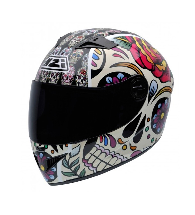 Comprar Nzi Casco integral Must II Mexican Skulls multicolor