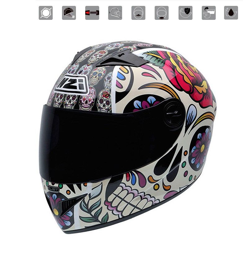 Comprar Nzi Elmo integrale Must II Mexican Skulls multicolor