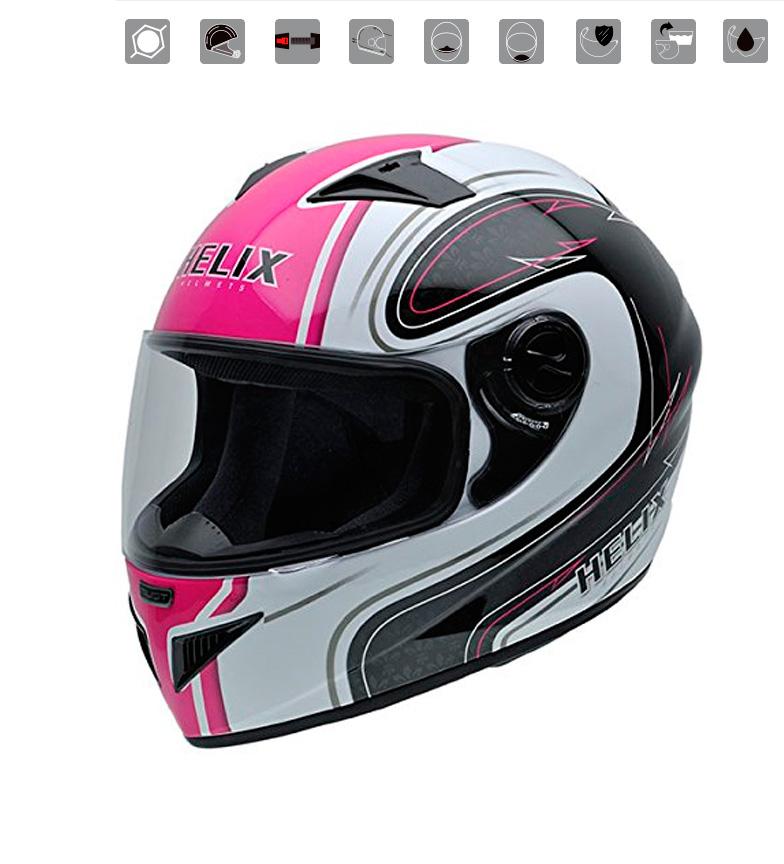 Comprar Nzi Must II White Pink full-body helmet, pink