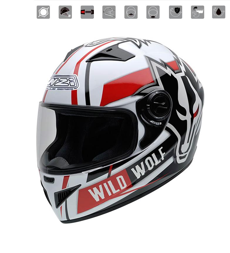 Comprar Nzi Integral helmet Must II Wild Wolf multicolored