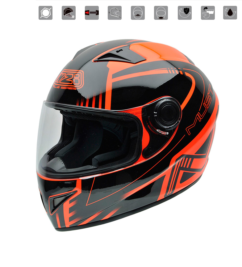 Comprar Nzi Integral helmet Must II Xlogo Orange orange