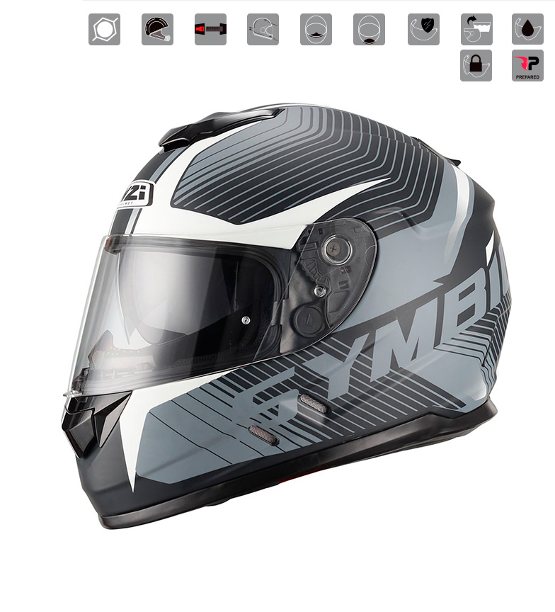 Comprar Nzi Casco integrale Symbio Duo Tera Nero Bianco multicolor