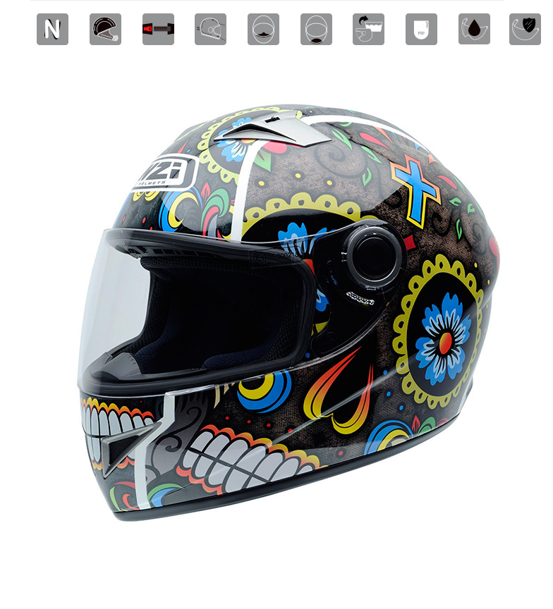 Comprar Nzi Casco integral Vital Mexrood multicolor