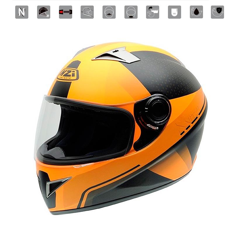 Comprar Nzi Casco integrale Vital X Vit Fluo Tangerine orange