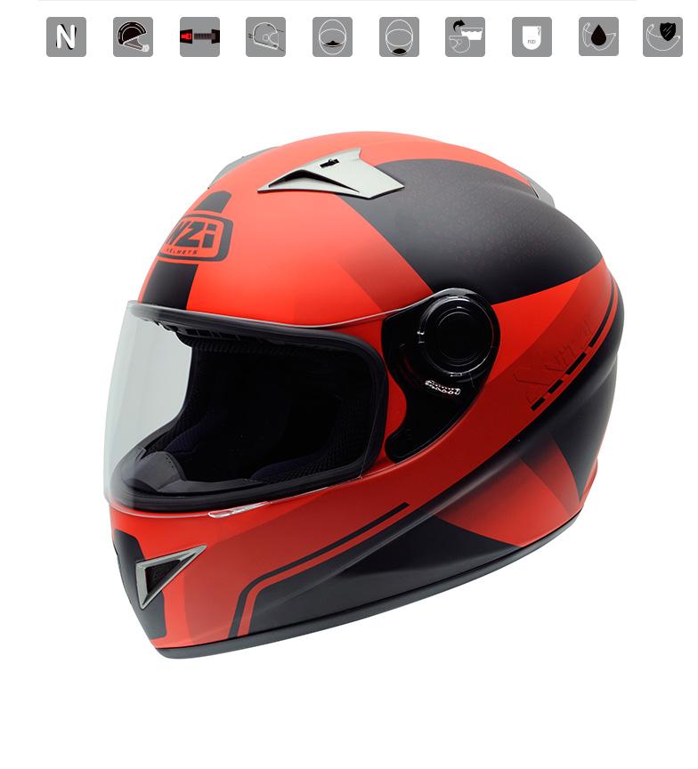 comprar nzi casco integral vital x vit fuo red rojo tienda es de marca outlet. Black Bedroom Furniture Sets. Home Design Ideas