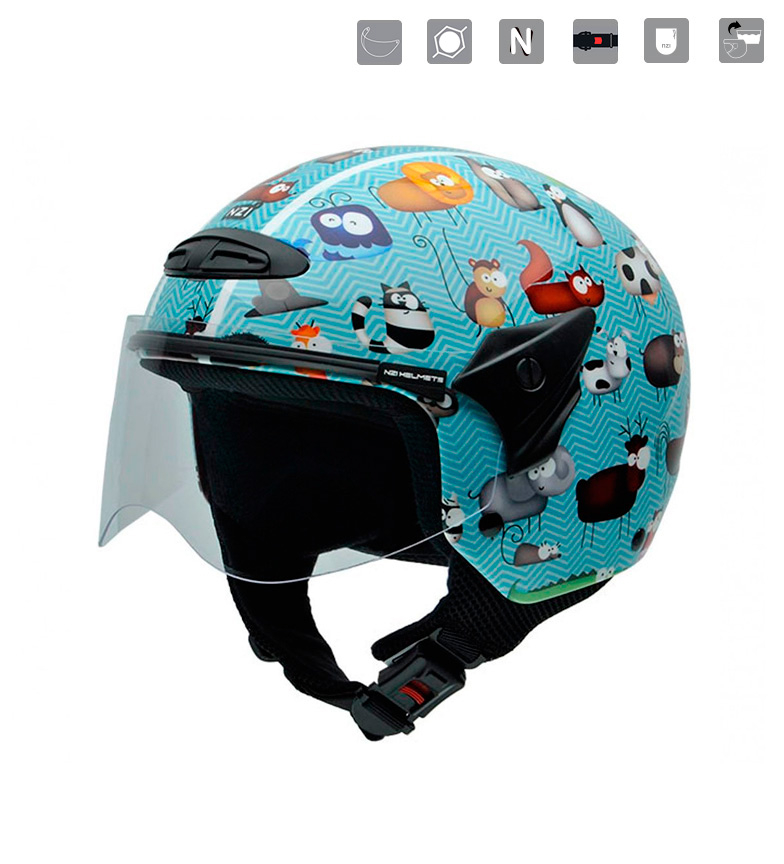 Comprar Nzi Casco jet junior Helix II JR Animals  multicolor