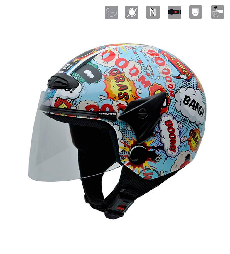 Comprar Nzi Junior jet helmet Helix II JR Boom multicolor