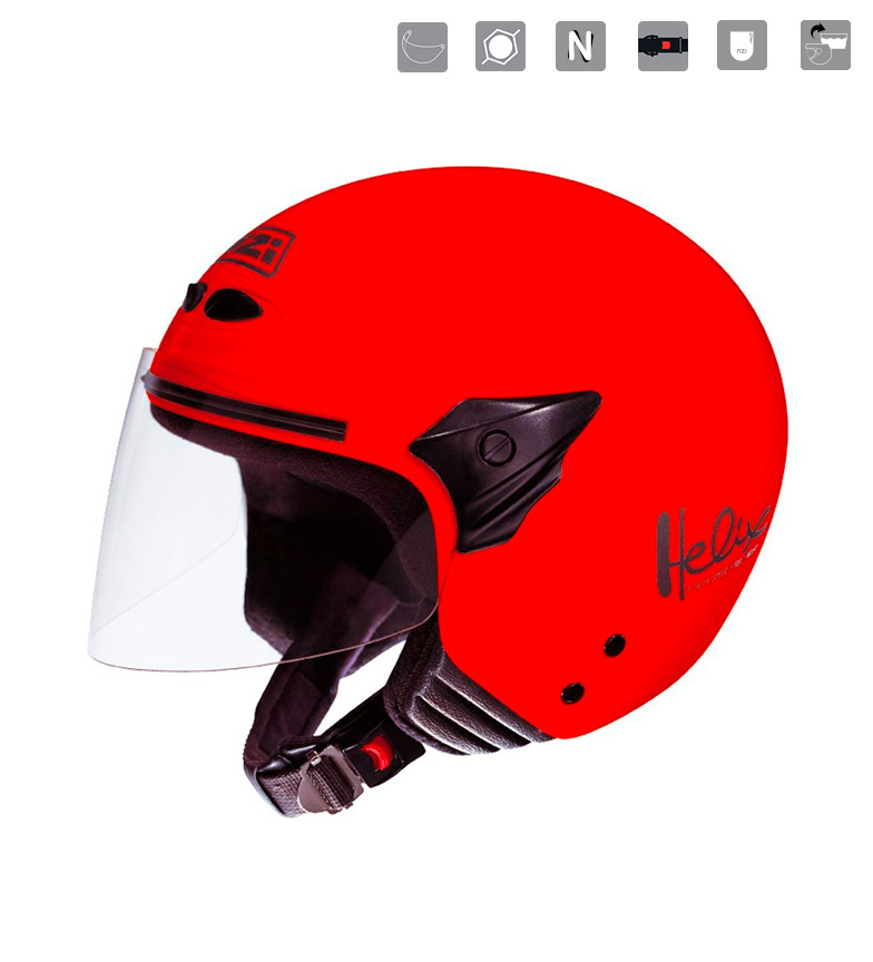 Comprar Nzi Casco jet junior Helix II JR Red rojo