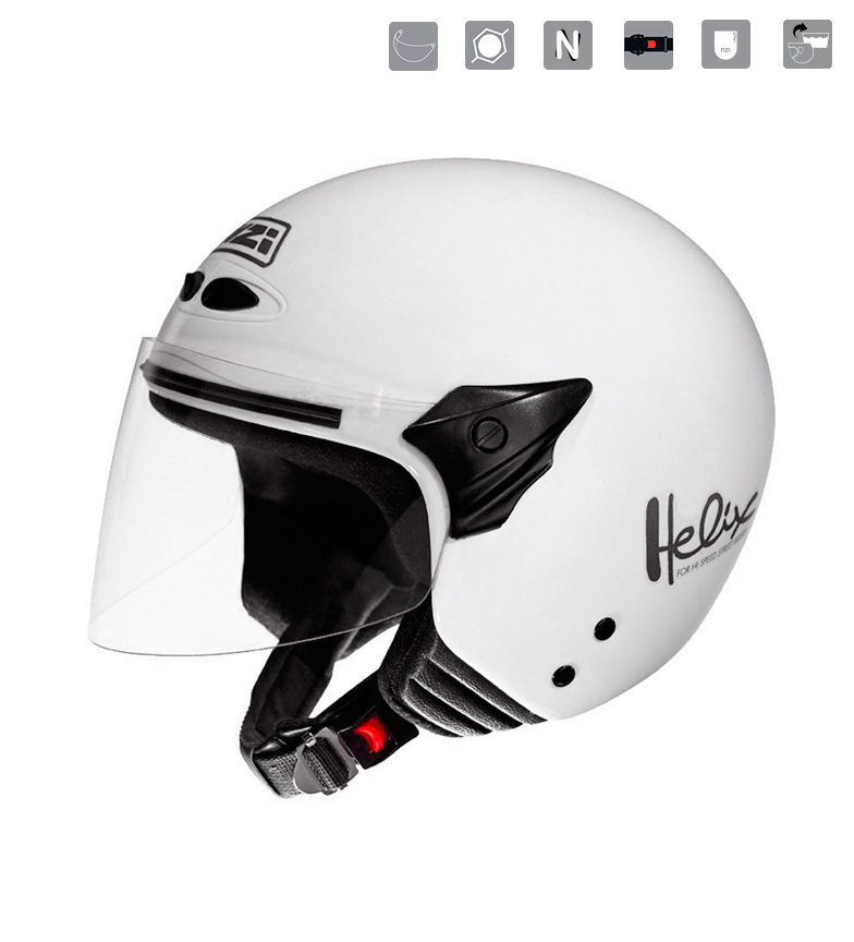Comprar Nzi Casco jet junior Helix II JR White blanco