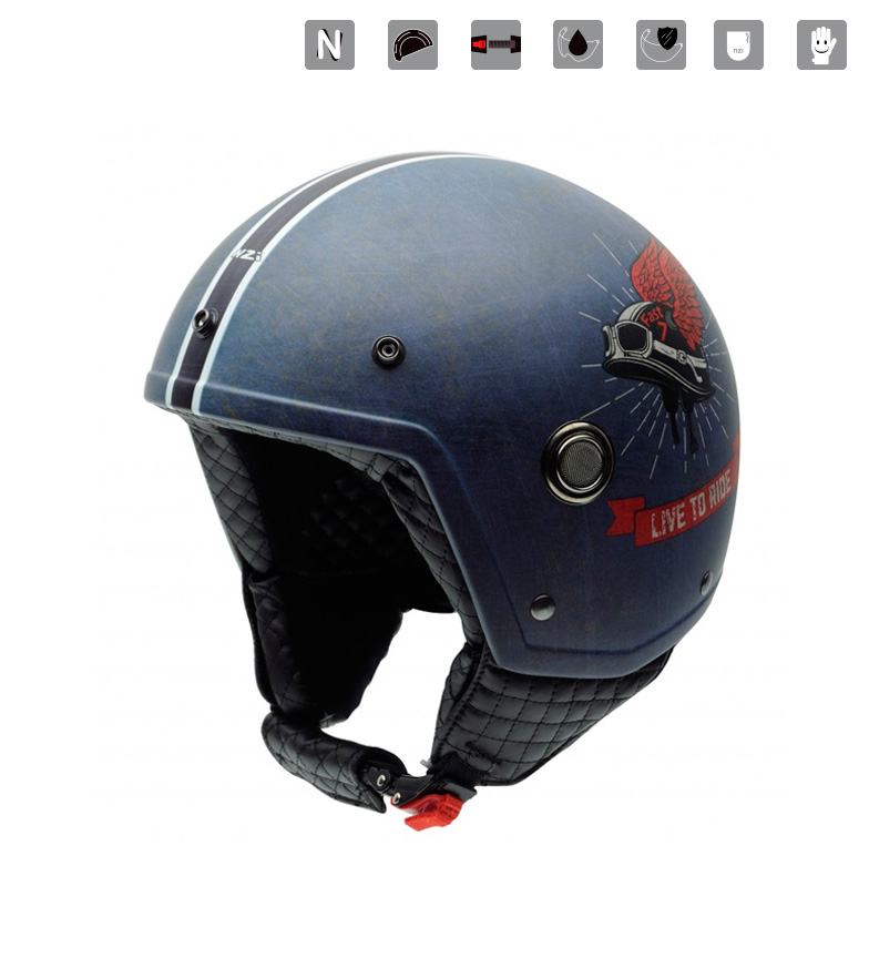 Comprar Nzi Casque Jet Tonup Live to Ride bleu