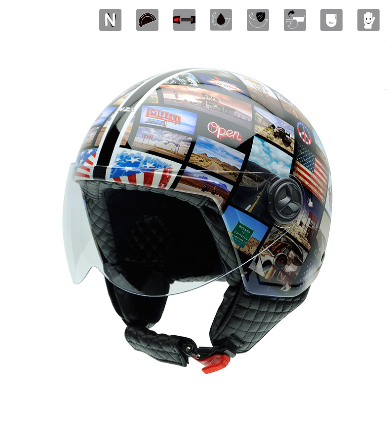 Comprar Nzi Zeta Graphics Collage jet casque multicolore