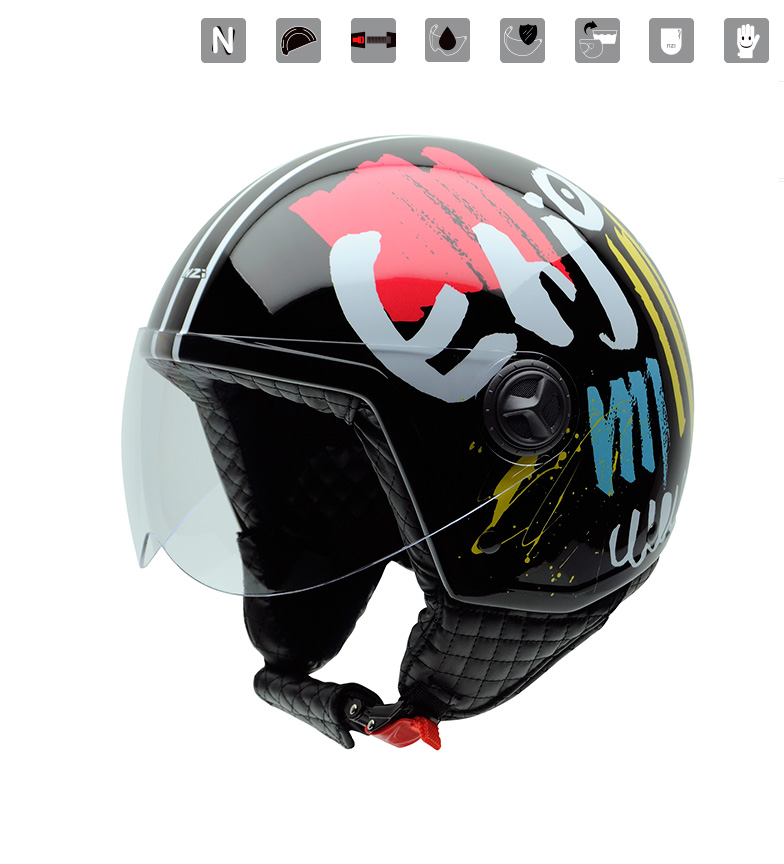 Comprar Nzi Capacete Jet Zeta Graphics Aproveite multicolor