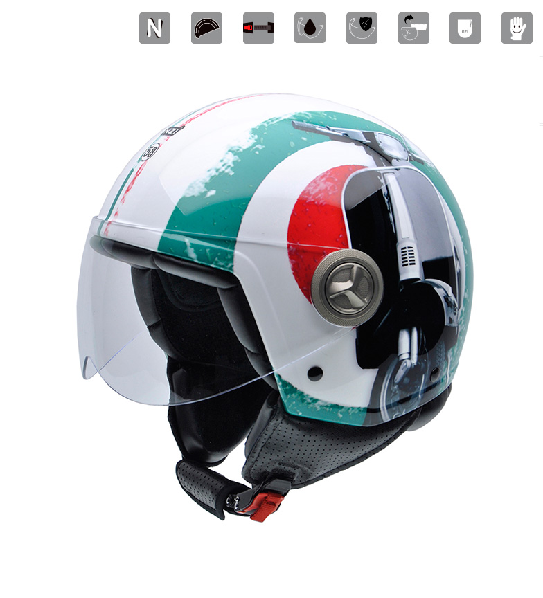 Comprar Nzi Jet helmet Zeta Graphics Supercinquantotto multicolored