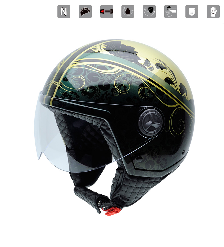 Comprar Nzi Casco jet Zeta Graphics Virtus multicolor