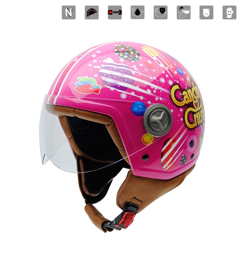 Comprar Nzi Zeta X-Plosion pink jet helmet