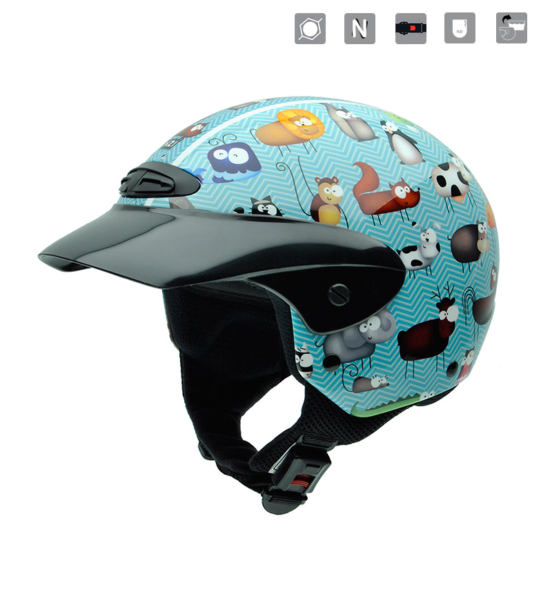 Comprar Nzi Casco junior abierto Single II JR Animals multicolor