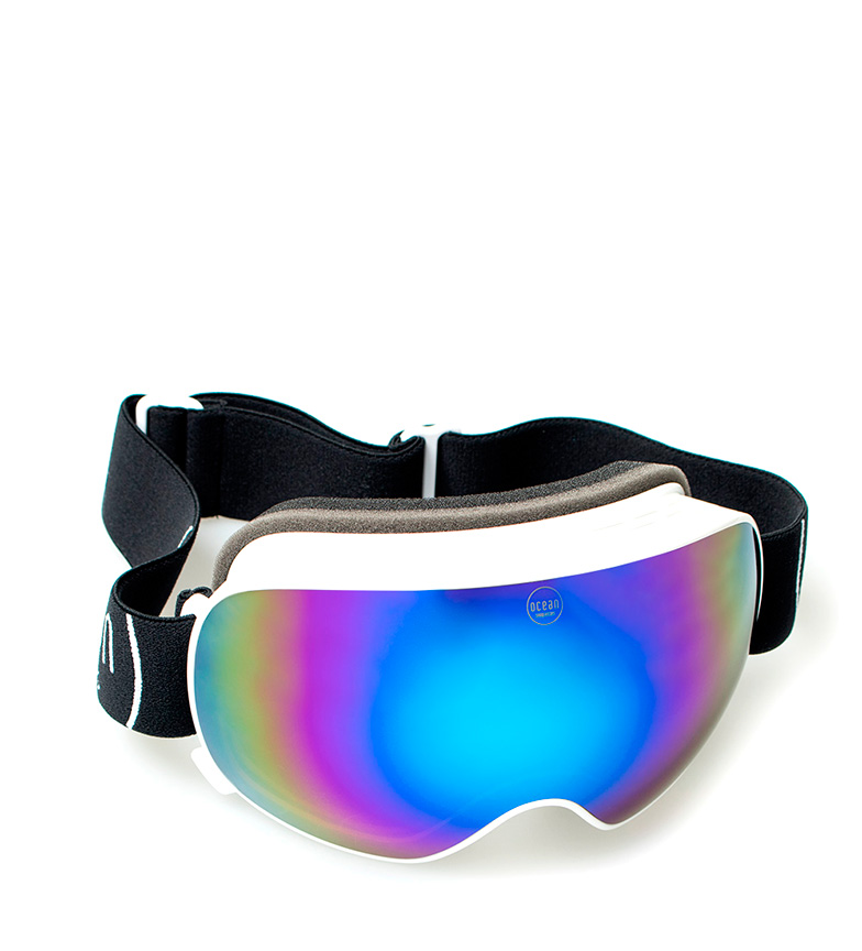 Comprar Ocean Sunglasses Mckinley snow white, black with crystal blue revo