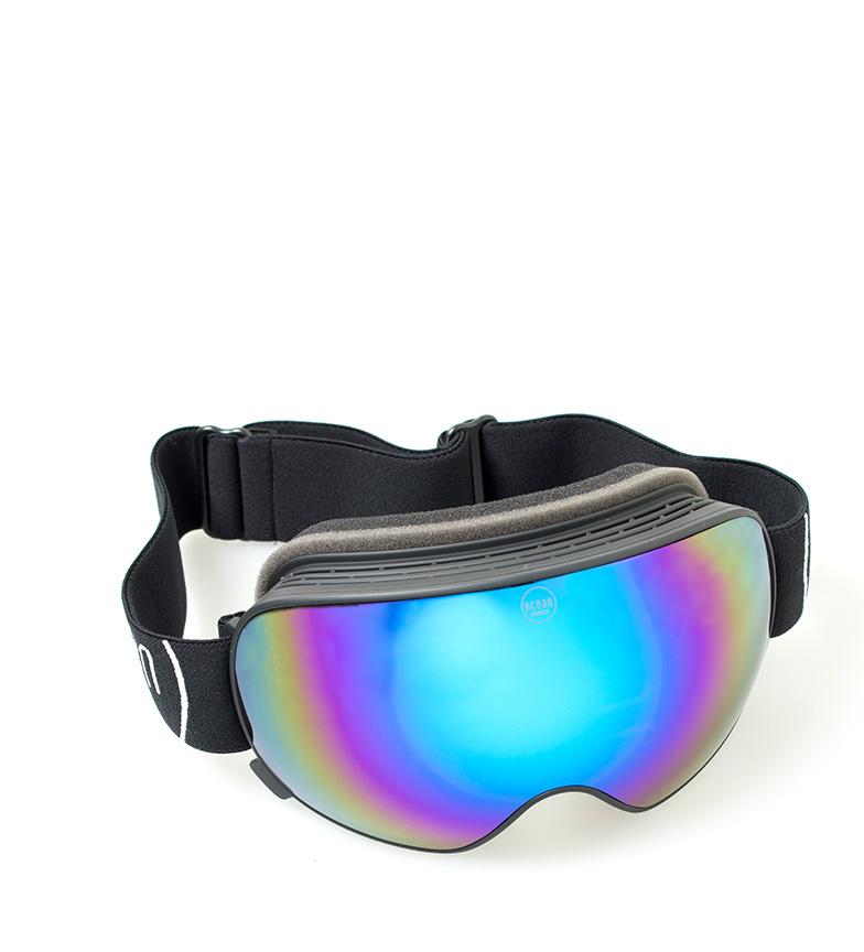 Comprar Ocean Sunglasses Occhialini da neve Mckinley neri con vetro revo blu