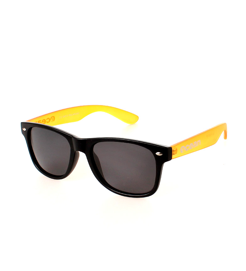 841a501fe804c Comprar Ocean Sunglasses Beach Wayfarer sunglasses black and yellow  transparent matte