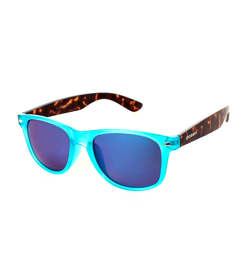 Comprar Ocean Sunglasses Occhiali da sole Wayfarer Beach turchese trasparente e opaco avana
