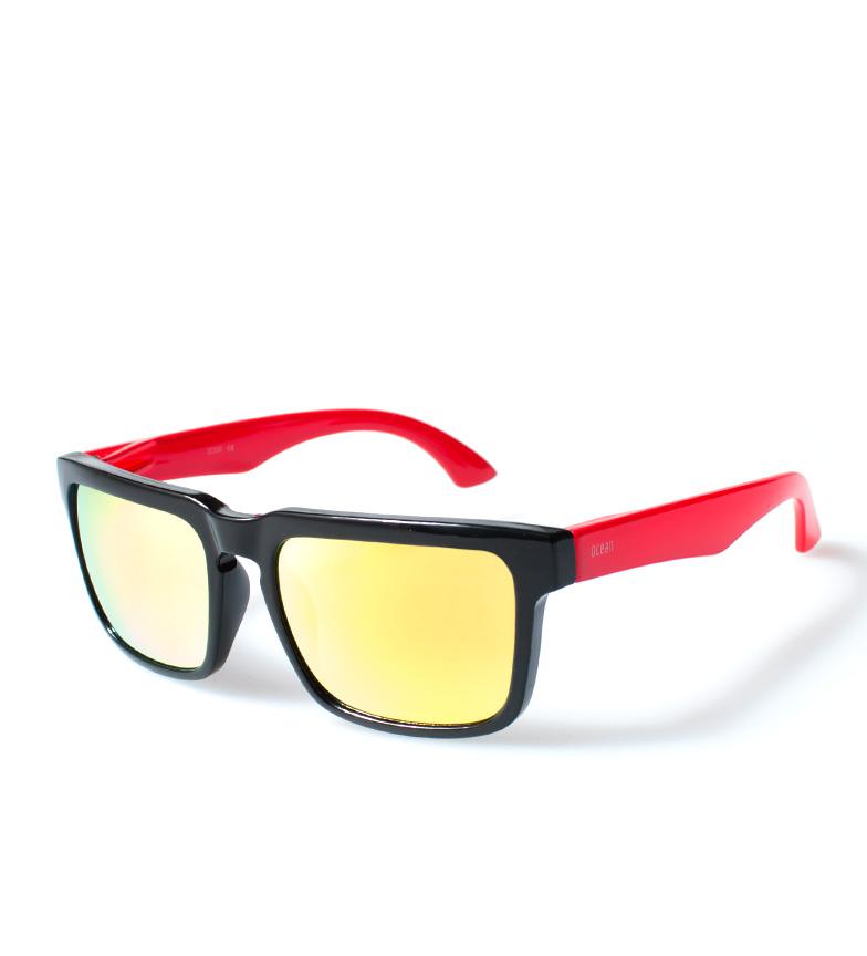 Comprar Ocean Sunglasses Bomba occhiali da sole neri, bagliore rosso