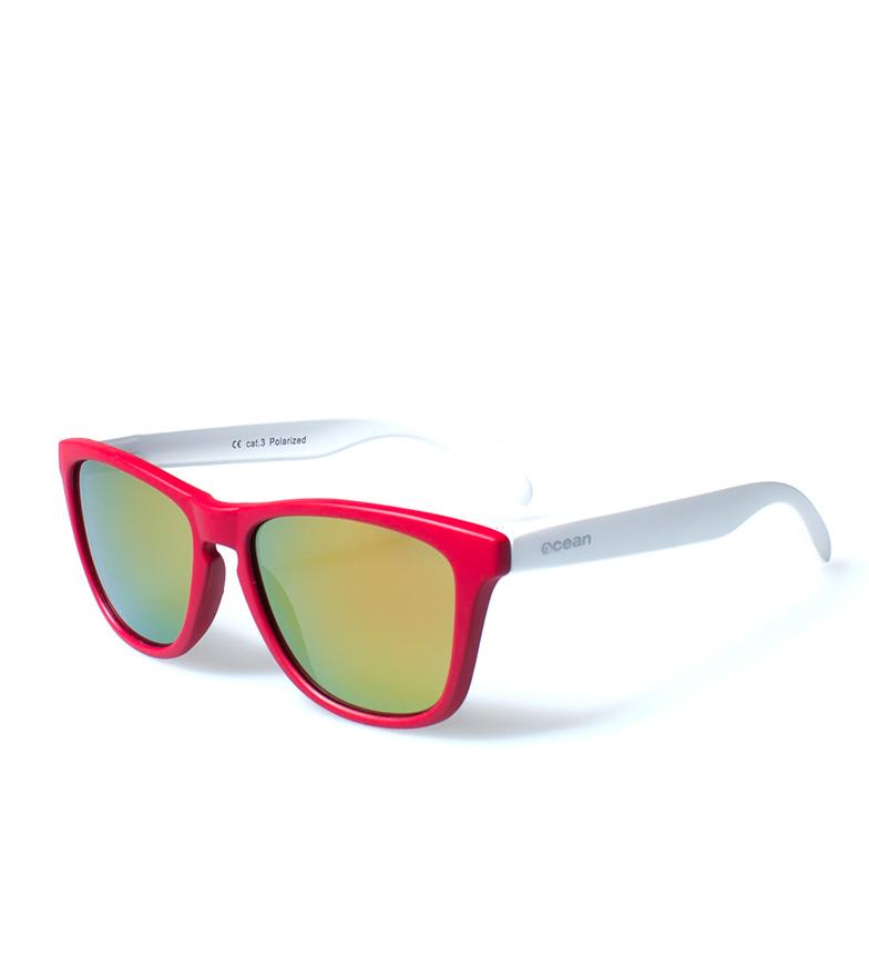 Comprar Ocean Sunglasses Sea óculos de sol mate vermelho, branco