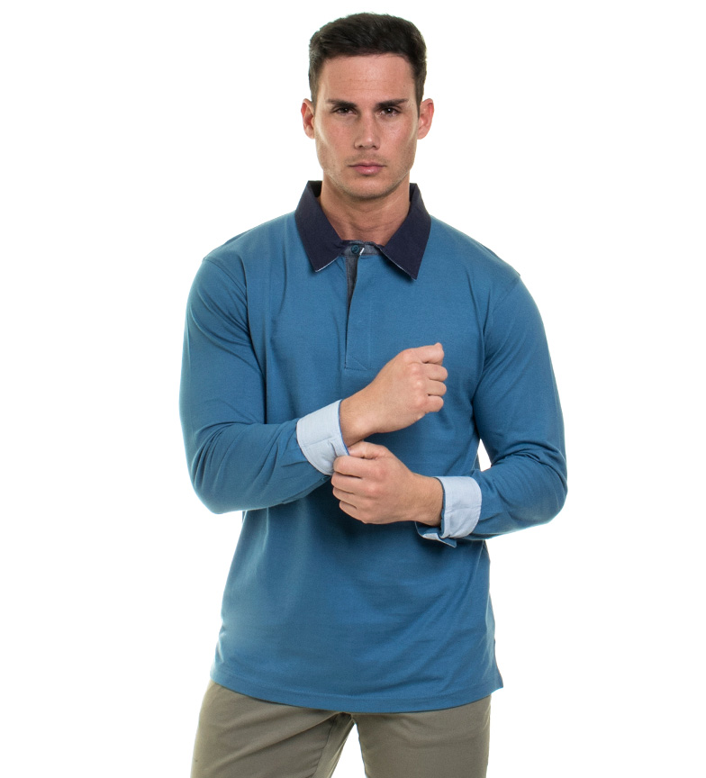 Comprar Old Taylor Saimon Polo Blue