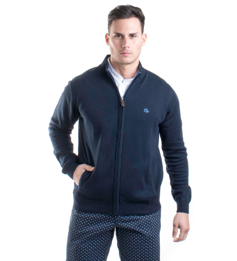 Comprar Old Taylor Navy Homer Knit Jacket