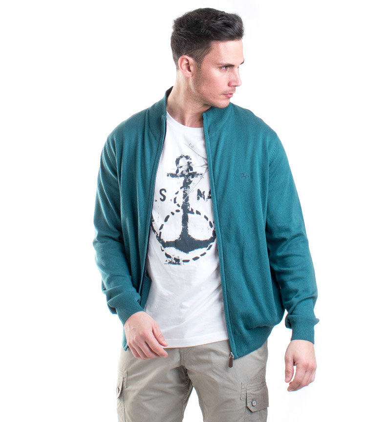 Comprar Old Taylor Dion knit jacket green