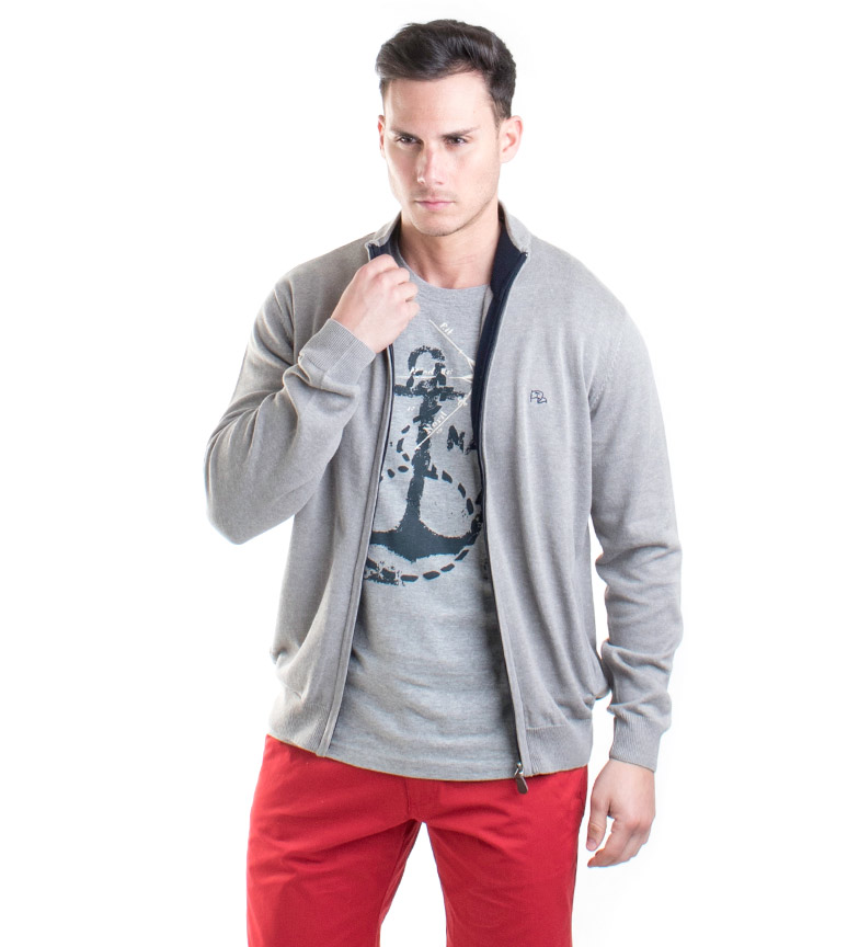 Chaqueta Gris Homero Taylor Old Punto ON8wvmn0yP