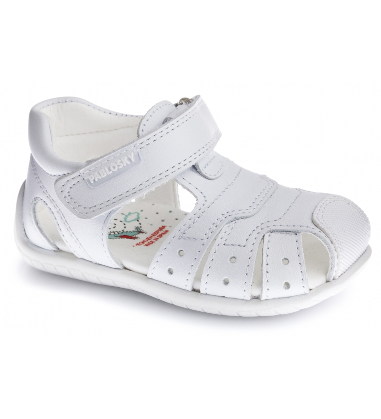 Pablosky Leather sandals Kenia white