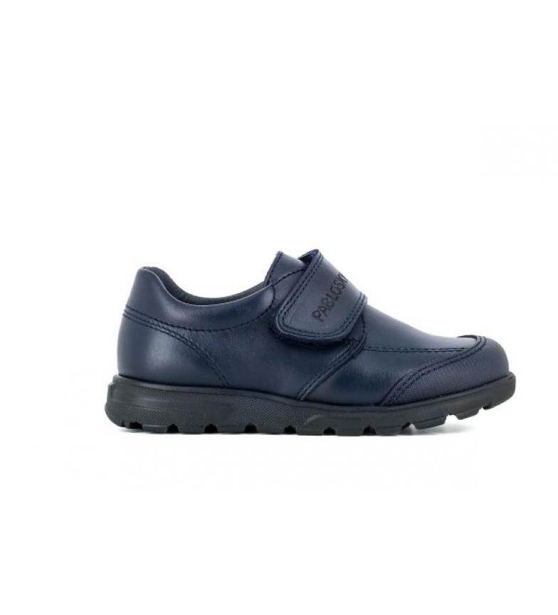 Pablosky Leather shoes 334520 navy blue