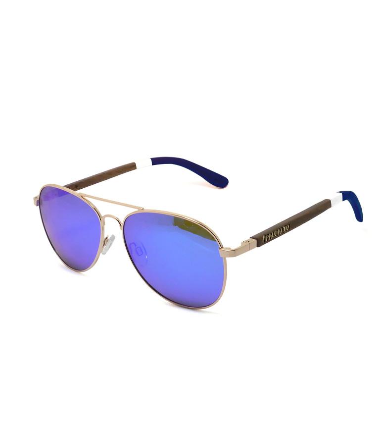 Comprar PALOALTO Gafas de sol San Diego dorado, madera marrón