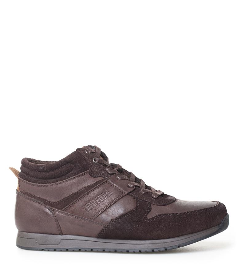 Comprar Paredes Juan scarpe da ginnastica in pelle marrone