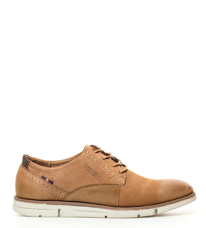 Comprar paredes zapatos de piel platea marr n claro for Paredes zapatos