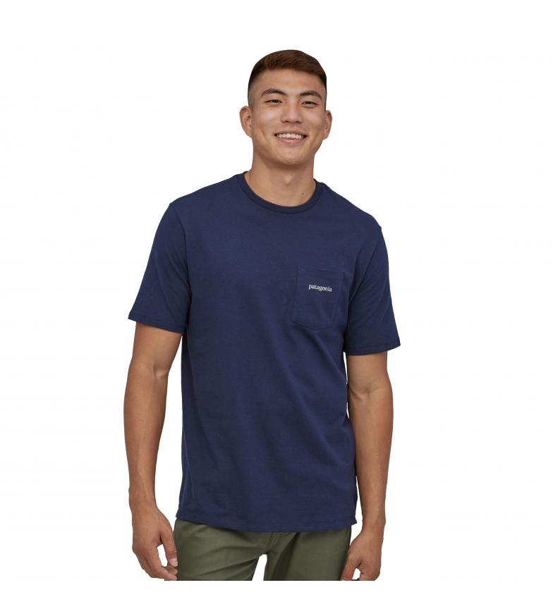 Comprar Patagonia T-shirt da uomo blu navy Line Logo Ridge Pocket Responsibili-Tee