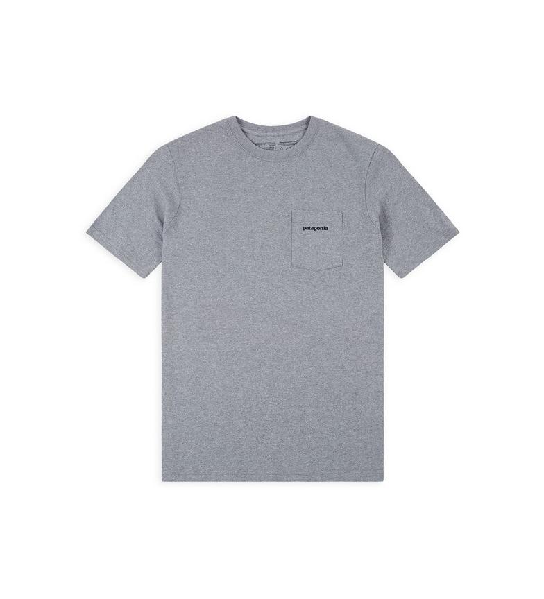Patagonia T-shirt P-6 Logo Pocket Responsibili da uomo grigia